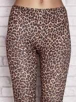 Brązowe legginsy animal print                                  zdj.                                  4