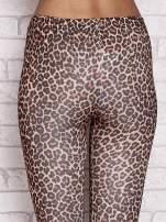 Brązowe legginsy animal print                                  zdj.                                  6