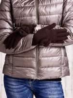 Zielone rękawiczki z kokardką i długim ściągaczem                                                                          zdj.                                                                         2