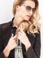 """Brązowo-złote okulary przeciwsłoneczne w stylu """"KOCIE OCZY""""                                  zdj.                                  1"""