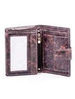 Brązowy cieniowany portfel męski ze skóry naturalnej                                  zdj.                                  4