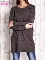 Brązowy długi sweter oversize                                  zdj.                                  1