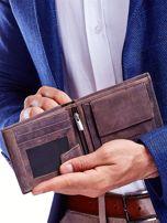 Brązowy portfel dla mężczyzny skórzany                                  zdj.                                  3