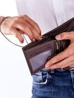 Brązowy portfel męski skórzany z łańcuszkiem                                  zdj.                                  4