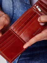 Brązowy portfel męski skórzany z przeszyciem                                  zdj.                                  3
