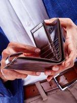 Brązowy skórzany portfel dla mężczyzny cieniowany                                  zdj.                                  3