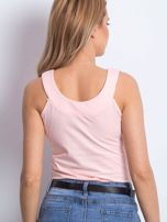 Brzoskwiniowy top na szerokich ramiączkach                                  zdj.                                  2