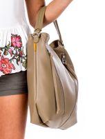 Camelowa torba z ukośnymi suwakami                                  zdj.                                  3