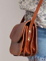 Camelowa torebka damska ze skóry naturalnej                                  zdj.                                  2