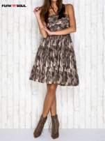 Ciemna moro sukienka na gumkę FUNK N SOUL                                                                          zdj.                                                                         2