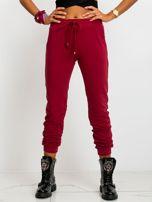 Ciemnoczerwone spodnie Faster                                  zdj.                                  1