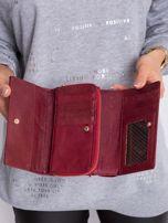 Ciemnoczerwony podłużny portfel z motywem zwierzęcym                                  zdj.                                  5