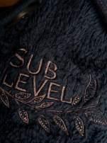 Ciemnofioletowa pluszowa bluza miś zapinana na guziki                                  zdj.                                  2