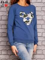 Ciemnoniebieska bluza z nadrukiem moro                                  zdj.                                  3