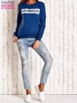 Ciemnoniebieska bluza z napisem ARIGATO                                  zdj.                                  2