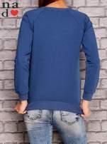 Ciemnoniebieska bluza z napisem CHCĘ PSOCIĆ                                  zdj.                                  2