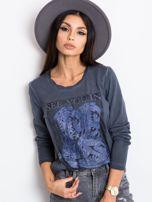 Ciemnoniebieska bluzka West                                  zdj.                                  1