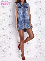 Ciemnoniebieska dekatyzowana sukienka jeansowa o kroju tuniki                                  zdj.                                  9