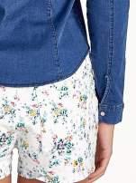 Ciemnoniebieska koszula jeansowa z cieniowaniem                                  zdj.                                  7