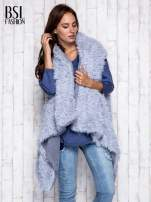 Ciemnoniebieska melanżowa bluzka z dekoltem na plecach                                  zdj.                                  8