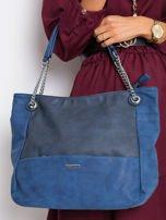 Ciemnoniebieska torba ze skóry eko                                  zdj.                                  1