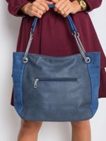 Ciemnoniebieska torba ze skóry eko                                  zdj.                                  2