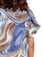 Ciemnoniebieska tunika z wzorzystym nadrukiem                                  zdj.                                  6
