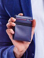 Ciemnoniebieski portfel dla mężczyzny ze skóry                                   zdj.                                  1
