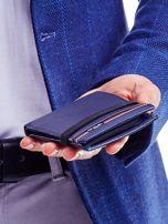 Ciemnoniebieski portfel dla mężczyzny ze skóry                                   zdj.                                  3