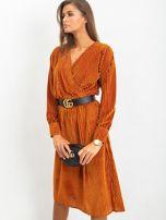 Ciemnopomarańczowa sukienka Attractive                                  zdj.                                  5