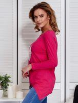 Ciemnoróżowa asymetryczna bluzka z babeczką                                  zdj.                                  5