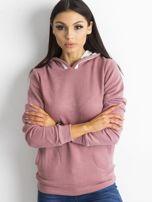 Ciemnoróżowa bluza z kieszeniami                                  zdj.                                  1