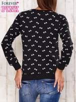 Ciemnoszara bluza motyw kokardek