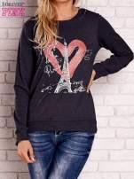 Ciemnoszara bluza z motywem paryskim                                  zdj.                                  1
