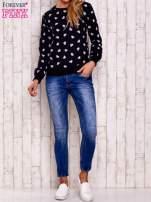 Ciemnoszara bluza z nadrukiem serduszek                                  zdj.                                  4
