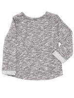 Ciemnoszara bluzka dla dziewczynki z bajkowym nadrukiem                                  zdj.                                  2