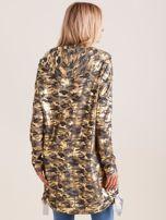 Ciemnoszara dresowa bluza z kapturem i złotym nadrukiem                                  zdj.                                  2