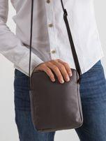 Ciemnoszara męska torba na ramię                                  zdj.                                  2