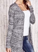 Ciemnoszary długi melanżowy sweter                                   zdj.                                  5