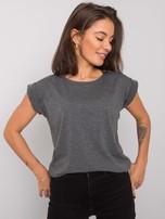 Ciemnoszary melanżowy t-shirt Revolution                                  zdj.                                  12