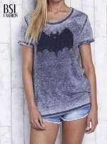 Ciemnoszary t-shirt acid wash z motywem Batmana                                  zdj.                                  1
