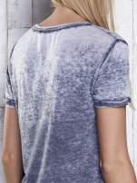 Ciemnoszary t-shirt acid wash z motywem Batmana                                  zdj.                                  6