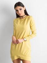 Ciemnożółta dresowa tunika basic                                  zdj.                                  1