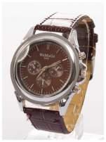 Cudny zegarek damski na brązowym pasku