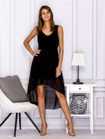 Czarna asymetryczna sukienka maxi                                  zdj.                                  4
