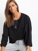 Czarna bawełniana bluza oversize                                  zdj.                                  1