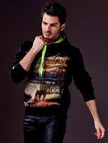 Czarna bluza męska z nowojorskim nadrukiem                                   zdj.                                  5