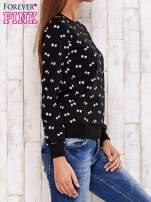 Czarna bluza motyw kokardek                                                                          zdj.                                                                         3