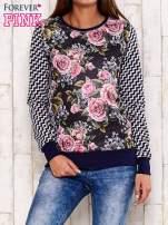 Czarna bluza motyw kwiatowy                                                                          zdj.                                                                         1