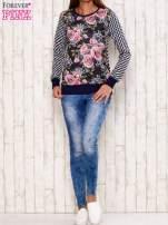 Czarna bluza motyw kwiatowy                                                                          zdj.                                                                         2